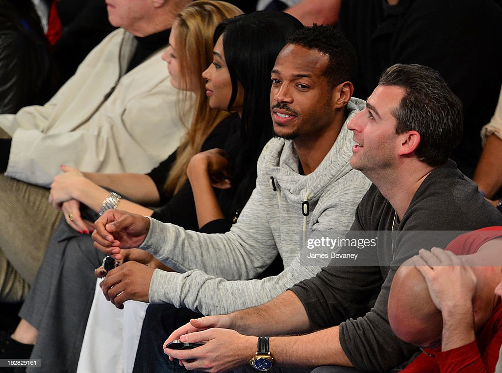 Marlon Wayans attends the Golden State Warriors vs New York Knicks game at Madison Square Garden on February 27, 2013 in New York City.