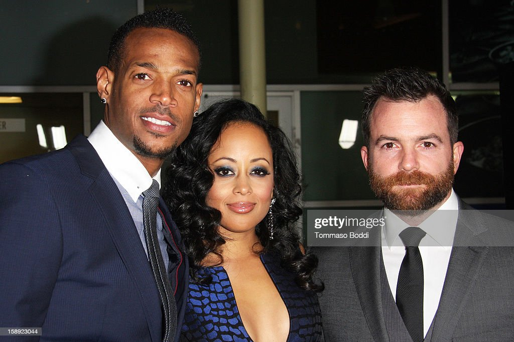 Marlon Wayans, Essence Atkins, Michael Tiddes attend the 'A Haunted House' Los Angeles premiere held at the ArcLight Hollywood on January 3, 2013 in Hollywood, California.