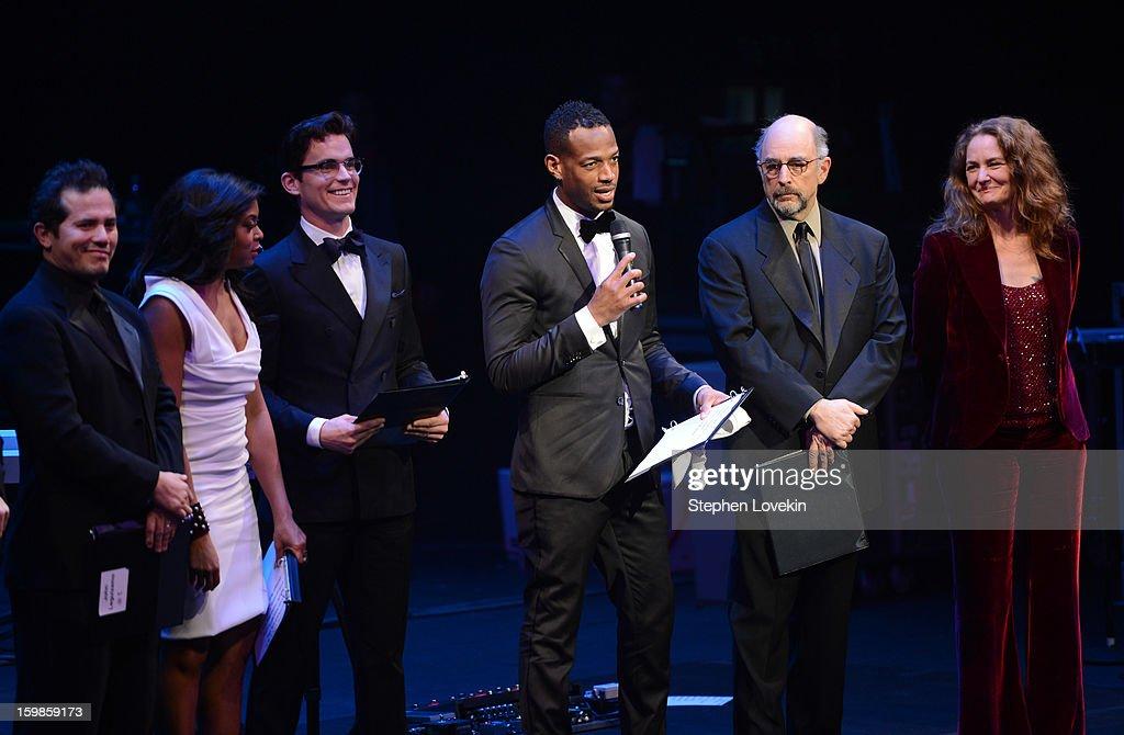 Marlon Wayans (C) speaks onstage with John Leguizamo, Taraji P. Henson, Matt Bomer, Richard Schiff, and Melissa Leo at The Creative Coalition's 2013 Inaugural Ball at the Harman Center for the Arts on January 21, 2013 in Washington, United States.