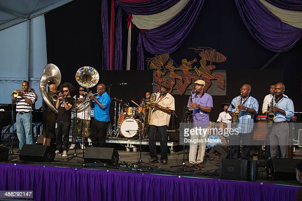 Marlow Jordan Kirk Joseph Ashlin Parker Trumpeter Gregory Davis of the Dirty Dozen Brass Band Alvin Ford Roger Lewis Roderick Paulin Khari Allen Lee...