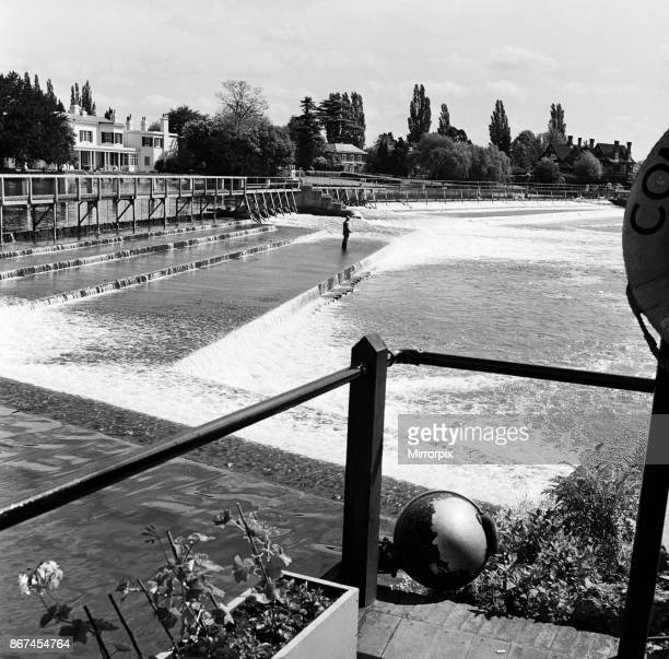Marlow Weir within Wycombe district in south Buckinghamshire 1st June 1954