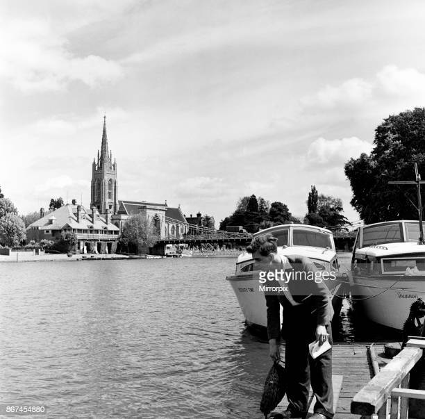 Marlow within Wycombe district in south Buckinghamshire 1st June 1954
