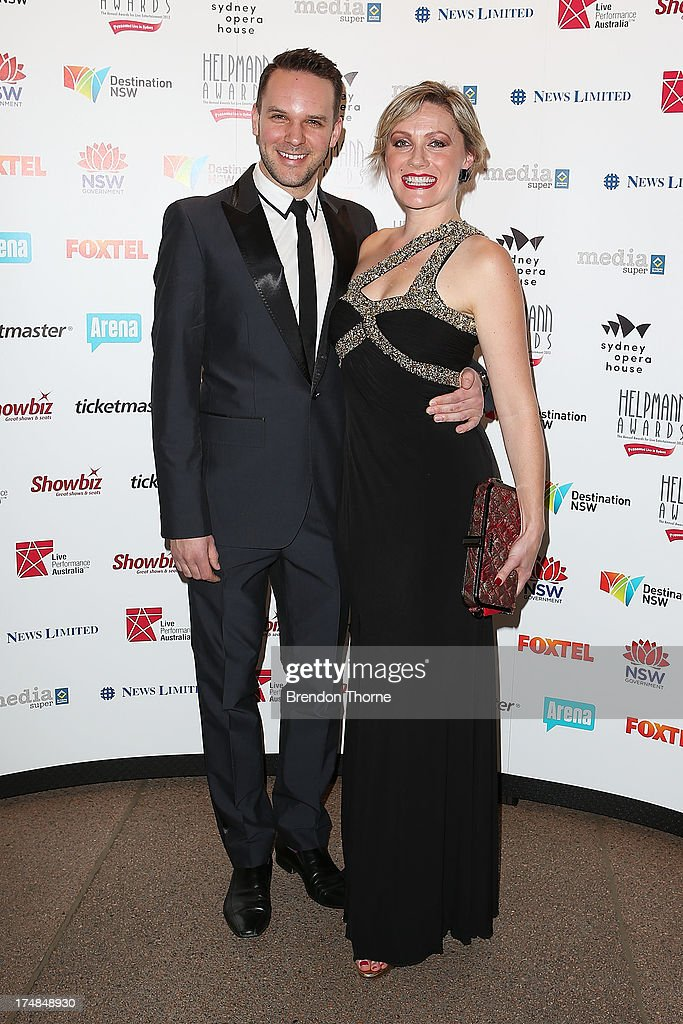 Marney McQueen and guest arrives at the 2013 Helpmann Awards at the Sydney Opera House on July 29, 2013 in Sydney, Australia.