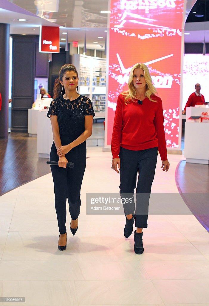 Verizon wireless unveils innovative verizon destination store with selena gom - Selena gomez boutique ...