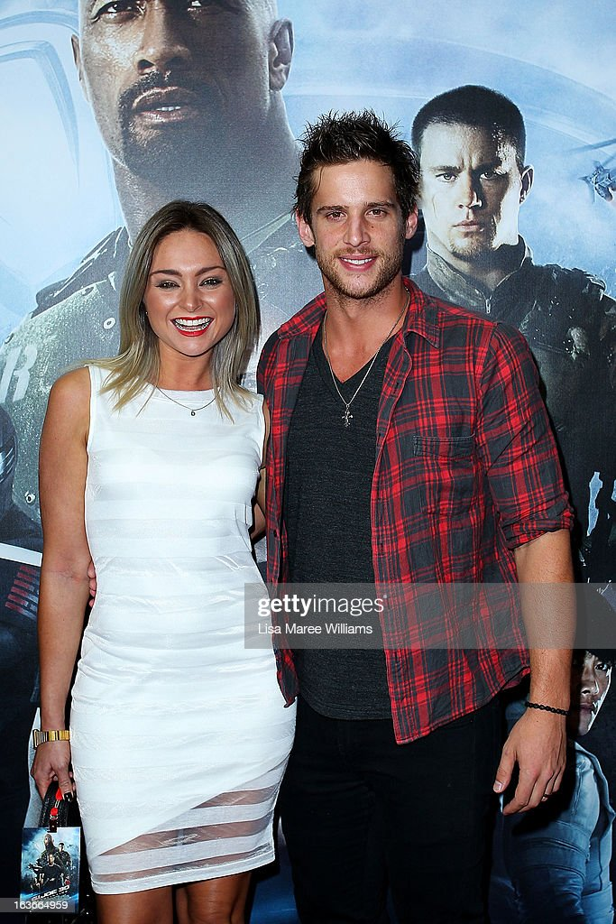 Marnie Little and Dan Ewing arrive at the 'G.I.Joe: Retaliation' - Australian Premiere at Event Cinemas George Street on March 14, 2013 in Sydney, Australia.