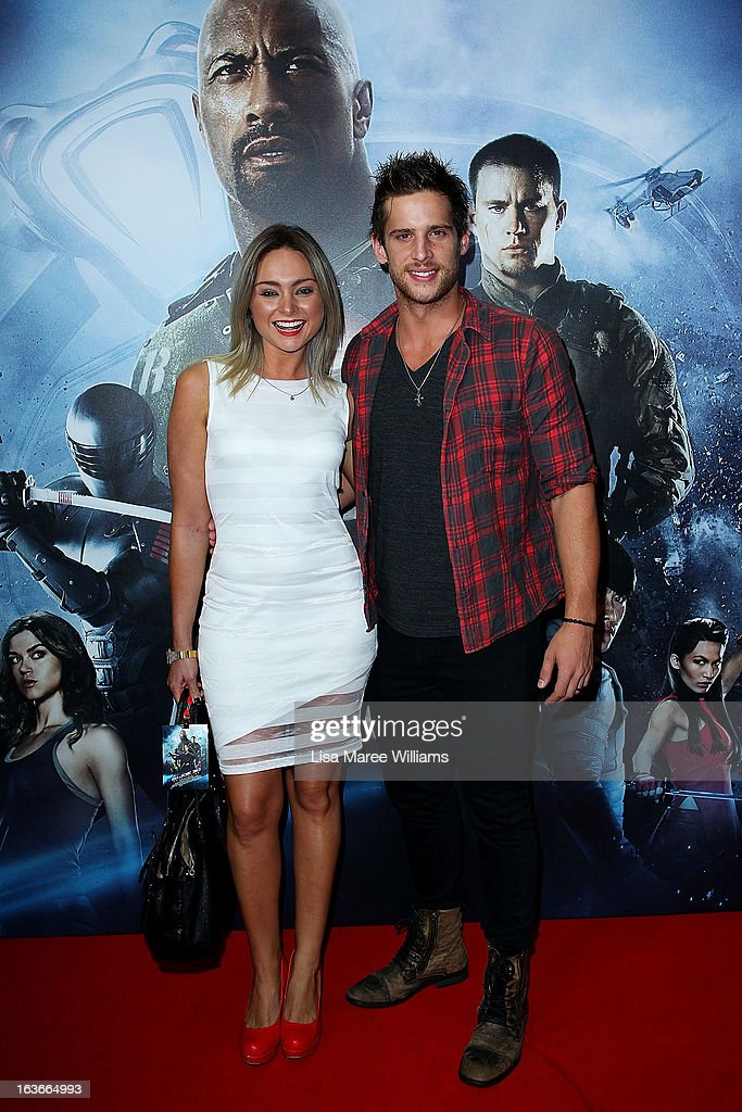 Marnie Little and Dan Ewing arrives at the 'G.I.Joe: Retaliation' - Australian Premiere at Event Cinemas George Street on March 14, 2013 in Sydney, Australia.
