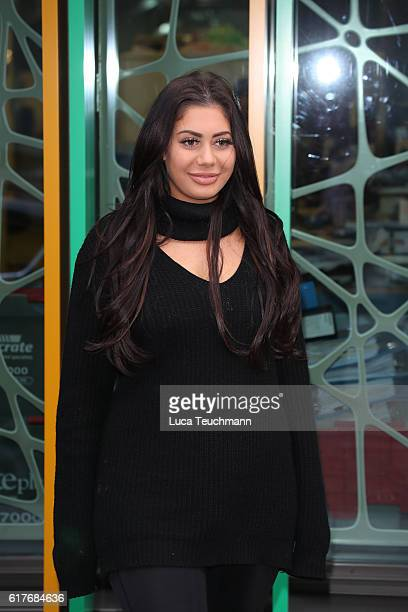 Marnie Simpson arrive Geordie Shore cast launch Series 13 at MTV London on October 24 2016 in London England