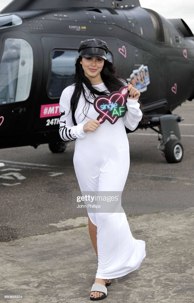 Marnie Simpson during the MTV 'Single AF' Photocall at Elstree Studios on October 13, 2017 in Borehamwood, England. Seven celebrities embark on the global hunt for love with the help from their social media followers.