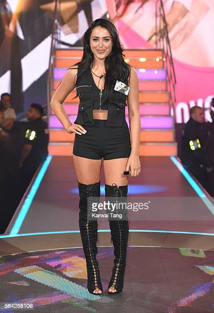 Marnie Simpson enters the Big Brother House for the Celebrity Big Brother launch at Elstree Studios on July 28 2016 in Borehamwood England