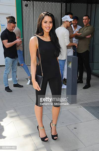 Marnie Simpson of the Geordie Shore Cast arrives to celebrate their fifth birthday at MTV London on May 24 2016 in London England