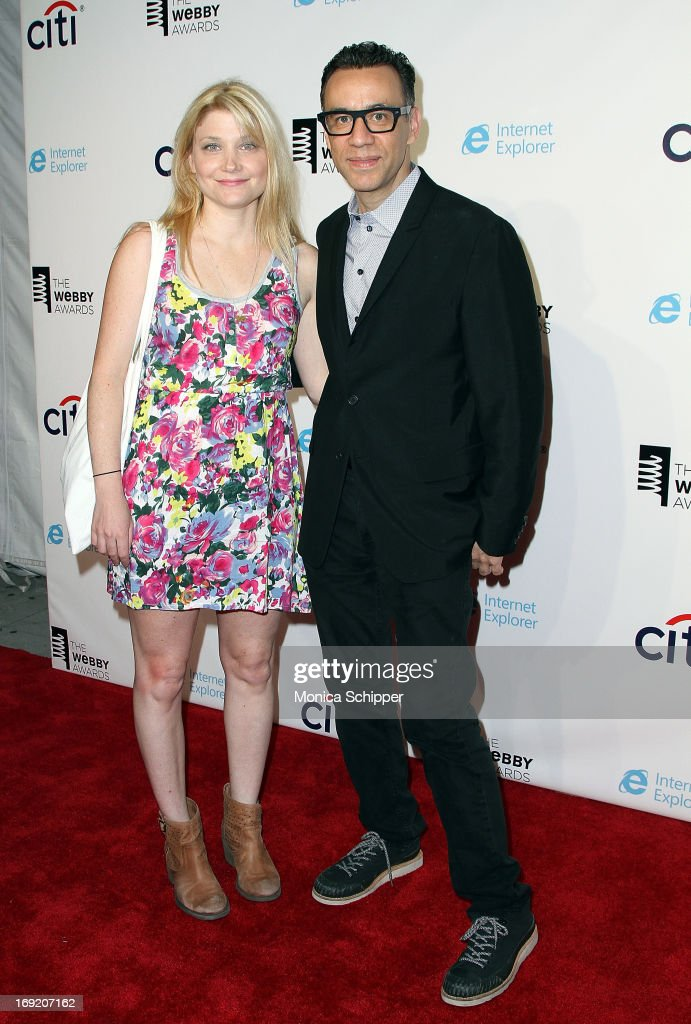 Marnie Stern and actor <a gi-track='captionPersonalityLinkClicked' href=/galleries/search?phrase=Fred+Armisen&family=editorial&specificpeople=221426 ng-click='$event.stopPropagation()'>Fred Armisen</a> attend the 2013 Webby Awards at Cipriani Wall Street on May 21, 2013 in New York City.