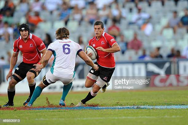 Marnitz Boshoff of the Lions during the Super Rugby match between Toyota Cheetahs and Lions at Vodacom Park on February 15 2014 in Bloemfontein South...