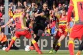 Marnix Kolder of Go Ahead EaglesGuy Ramos of Roda JC Erik Falkenburg of Go Ahead Eagles during the Dutch Eredivisie match between Go Ahead Eagles and...