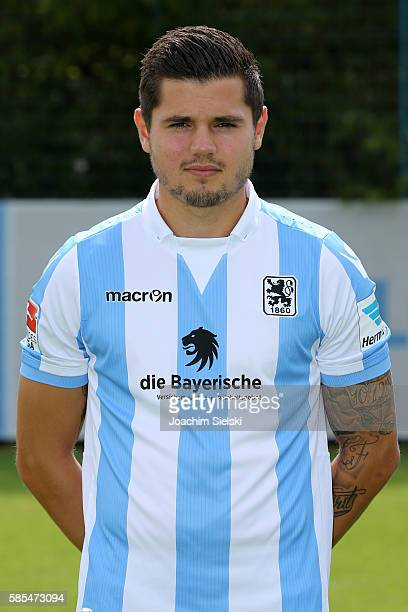Marnon Busch poses during the official team presentation of TSV 1860 Muenchen at Trainingsgelaende on July 22 2016 in Munich Germany