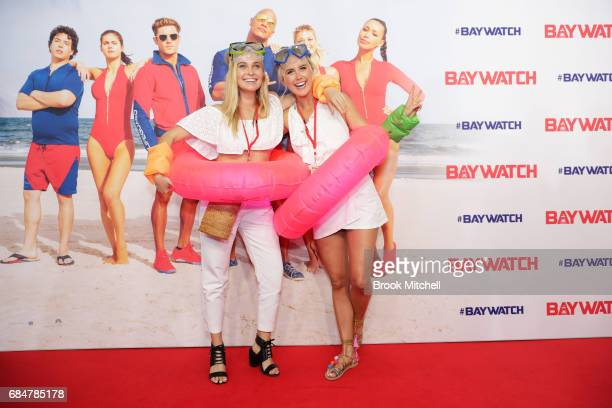 Marny Kennedy and Olivia Phyland attend the Australian premiere of 'Baywatch' at Hoyts EQ on May 18 2017 in Sydney Australia