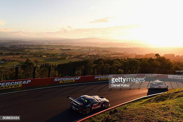 Maro Engel drives the Erebus Motorsport MercedesBenz SLS AMG GT3 during the Bathurst 12 Hour Race at Mount Panorama on February 7 2016 in Bathurst...