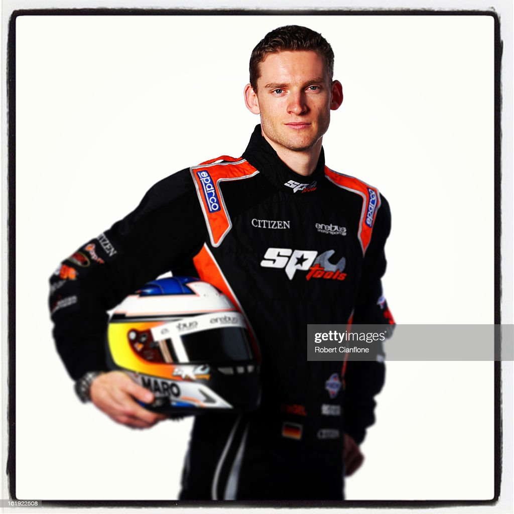 Maro Engel of the Erebus Motorsport V8 Team poses during a V8 Supercars driver portrait session at Eastern Creek on February 15, 2013 in Sydney, Australia.