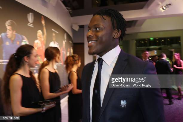 Maro Itoje of England attends the World Rugby Awards 2017 in the Salle des Etoiles at MonteCarlo Sporting Club on November 26 2017 in MonteCarlo...