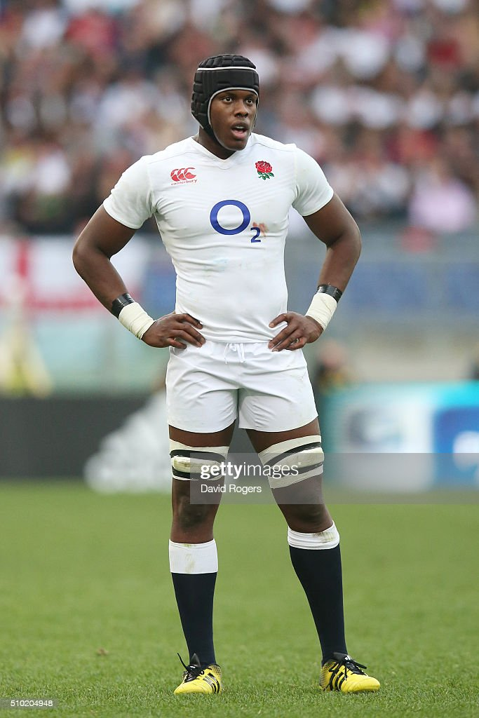 <a gi-track='captionPersonalityLinkClicked' href=/galleries/search?phrase=Maro+Itoje&family=editorial&specificpeople=5967858 ng-click='$event.stopPropagation()'>Maro Itoje</a> of England looks on during the RBS Six Nations match between Italy and England at the Stadio Olimpico on February 14, 2016 in Rome, Italy.