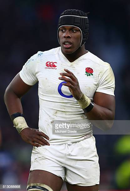 Maro Itoje of England looks on during the RBS Six Nations match between England and Ireland at Twickenham Stadium on February 27 2016 in London...