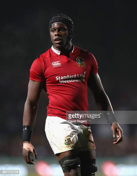 Maro Itoje of the Lions looks on during the match between the New Zealand Maori and the British Irish Lions at Rotorua International Stadium on June...