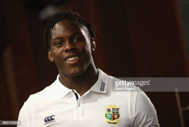 Maro Itoje poses during the British Irish Lions media session held at the Pullman Hotel on June 5 2017 in Auckland New Zealand