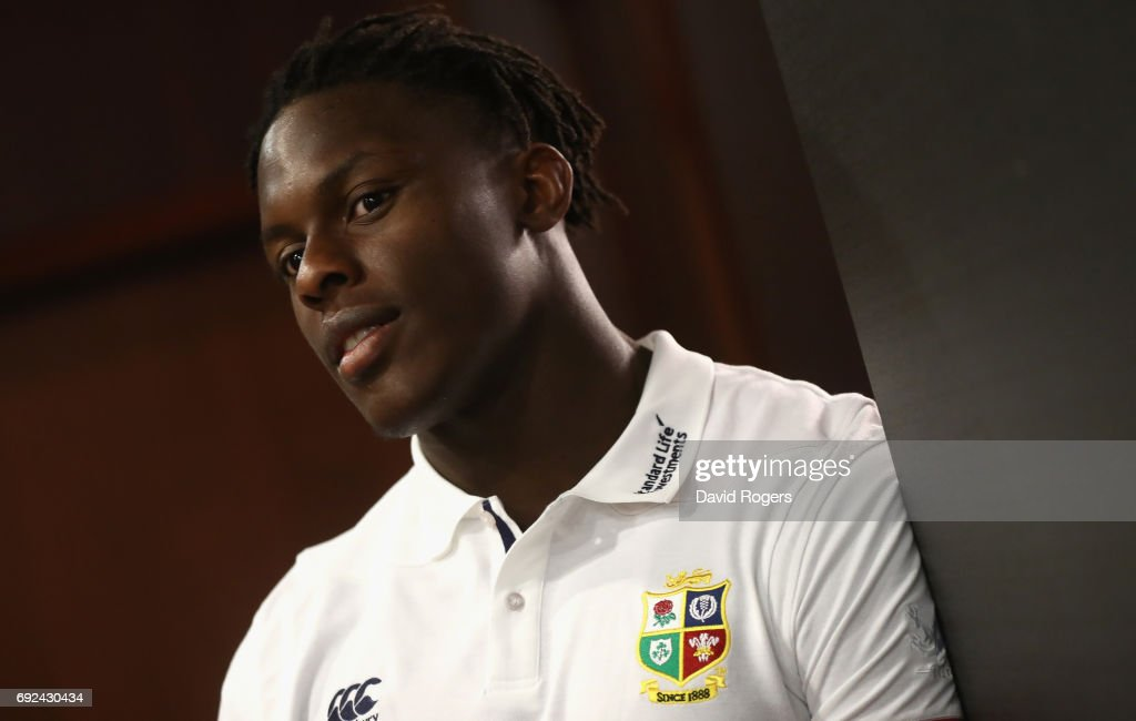 Maro Itoje poses during the British & Irish Lions media session held at the Pullman Hotel on June 5, 2017 in Auckland, New Zealand.