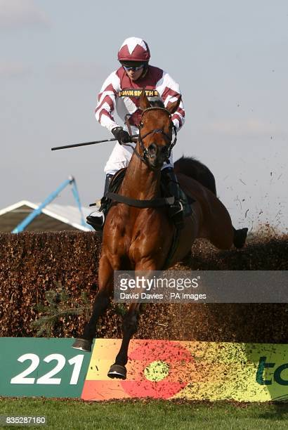 Marodima ridden by Rhys Flint during the John Smith's Red Rum Handicap Chase