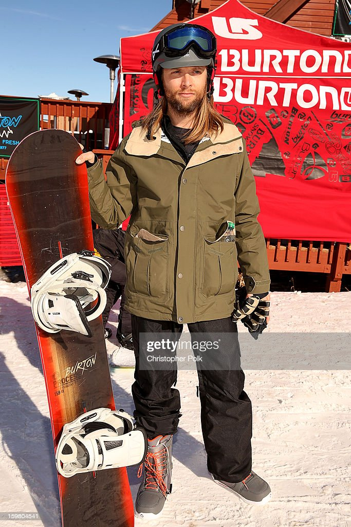 Maroon 5 band member <a gi-track='captionPersonalityLinkClicked' href=/galleries/search?phrase=James+Valentine&family=editorial&specificpeople=213028 ng-click='$event.stopPropagation()'>James Valentine</a> attends Burton Learn To Ride - Day 2 on January 20, 2013 in Park City, Utah.