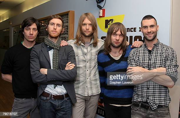 Maroon 5 visit MTV's TRL on January 14 2007 in New York City