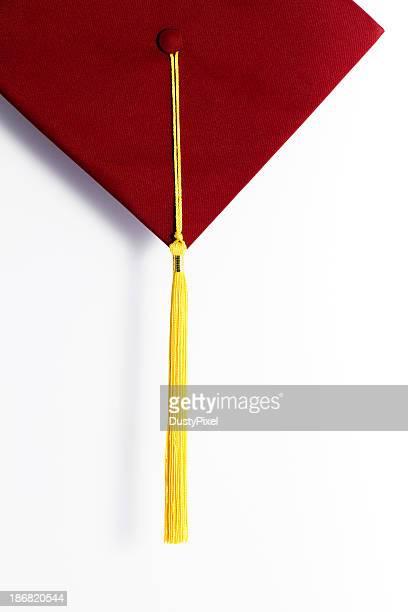 Graduación tonos rojizos oscuros y oro