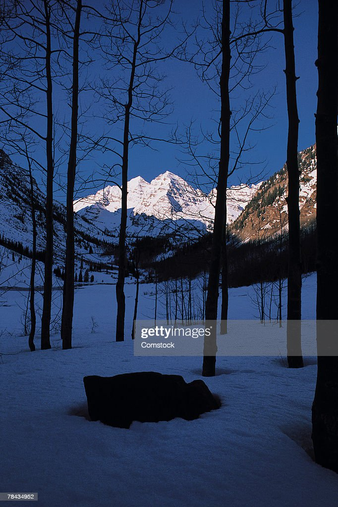 Maroon Bells in the Snowmass wilderness of Colorado