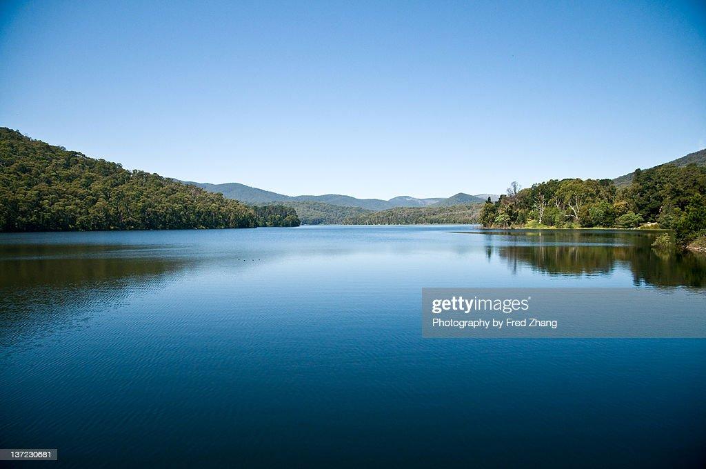 Maroondah dam in Melbourne : Stock Photo