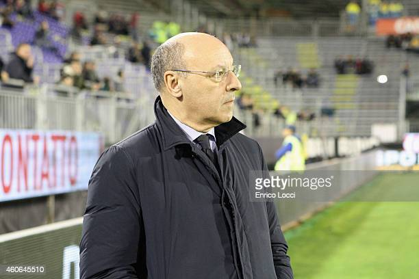 Marotta of Juventus looks on during the Serie A match betweeen Cagliari Calcio and Juventus FC at Stadio Sant'Elia on December 18 2014 in Cagliari...