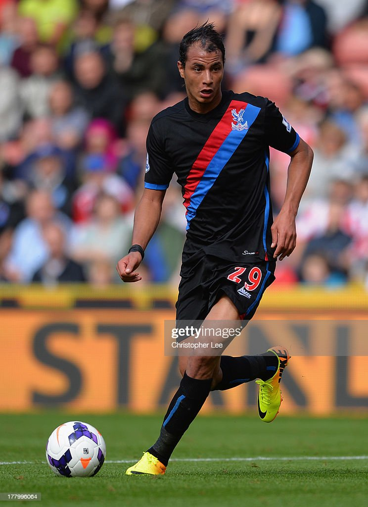 Marouane Chamakh of Crystal Palace in action during the Barclays Premier League match between Stoke City and Crystal Palace at Britannia Stadium on August 24, 2013 in Stoke on Trent, England.