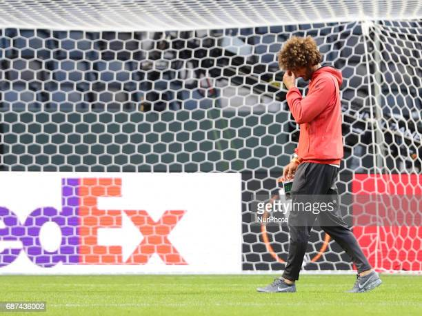 Marouane Fellaini during a walk around The Friends Arena ahead of the UEFA Europa League Final between Ajax and Manchester United at Friends Arena on...