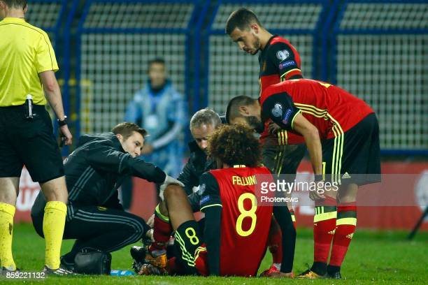 Marouane Fellaini midfielder of Belgium during the World Cup Qualifier Group H match between Bosnia and Herzegovina and Belgium at the Grbavica...