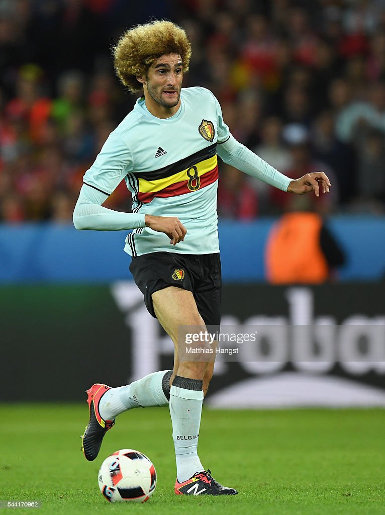 Marouane Fellaini of Belgium in action during the UEFA EURO 2016 quarter final match between Wales and Belgium at Stade Pierre-Mauroy on July 1, 2016 in Lille, France.