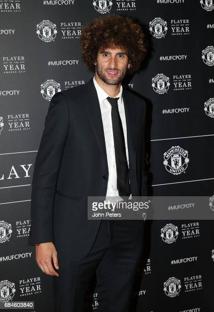 Marouane Fellaini of Manchester United arrives at the club's annual Player of the Year awards at Old Trafford on May 18 2017 in Manchester England