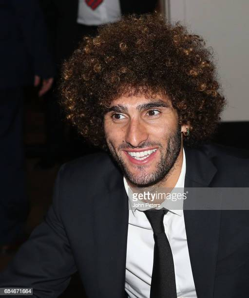 Marouane Fellaini of Manchester United attends the Players' Player of the Year award at the club's annual Player of the Year awards at Old Trafford...