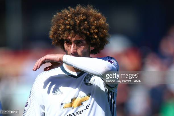 Marouane Fellaini of Manchester United during the Premier League match between Burnley and Manchester United at Turf Moor on April 23 2017 in Burnley...
