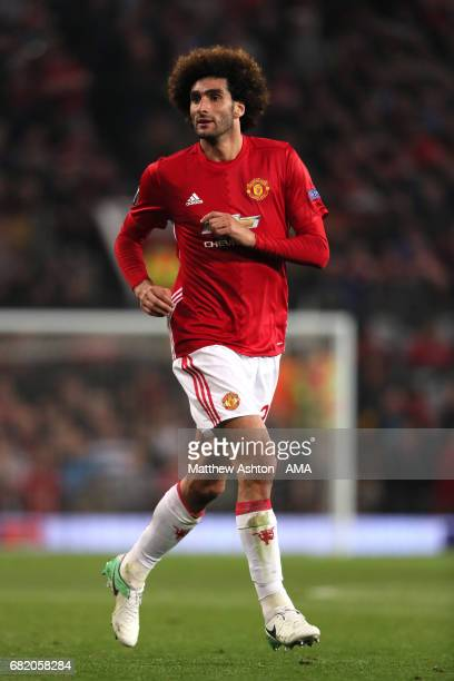 Marouane Fellaini of Manchester United in action during the UEFA Europa League semi final second leg match between Manchester United and Celta Vigo...