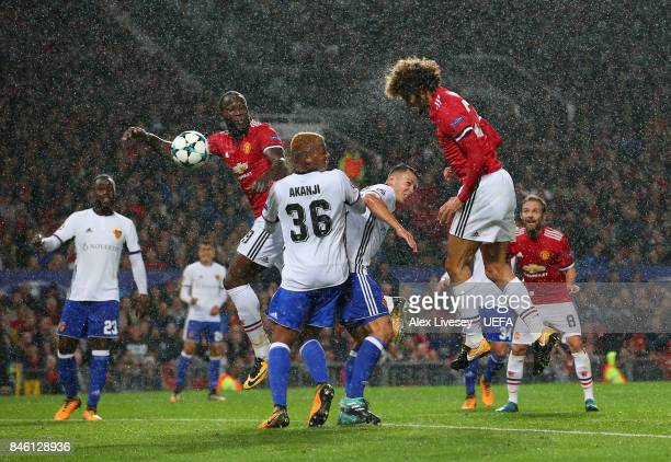 Marouane Felliani of Manchester United scores the opening goal during the UEFA Champions League group A match between Manchester United and FC Basel...