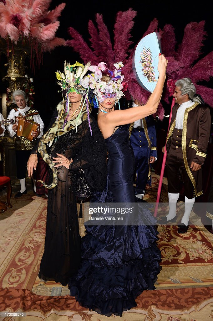 Marpessa Henninck (L) attends the 'Ballo in Maschera' to Celebrate Dolce&Gabbana Alta Moda at Palazzo Pisani Moretta on July 6, 2013 in Venice, Italy.