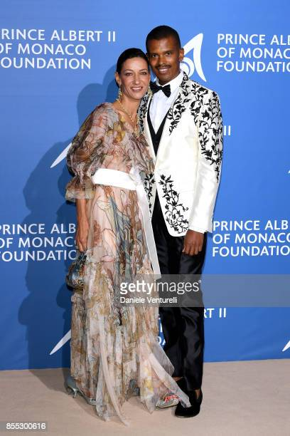 Marpessa Hennink and guest attend the inaugural 'MonteCarlo Gala for the Global Ocean' honoring Leonardo DiCaprio at the Monaco Garnier Opera on...