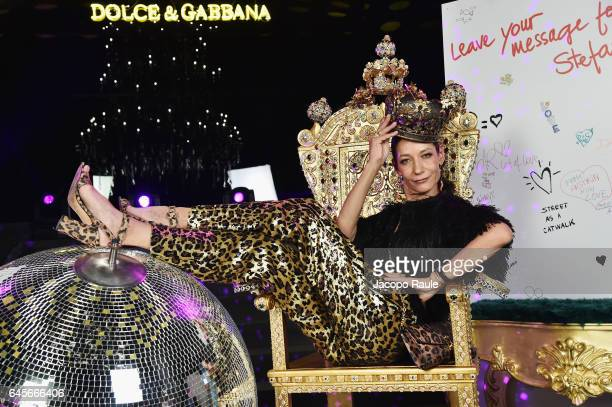 Marpessa Hennink attend the Dolce Gabbana 'Dancing Queen' After Show Party during Milan Fashion Week Fall/Winter 2017/18 on February 26 2017 in Milan...