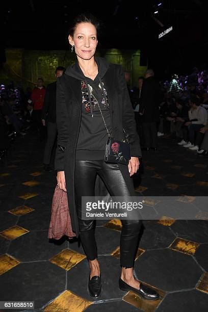 Marpessa Hennink attends the Dolce Gabbana show during Milan Men's Fashion Week Fall/Winter 2017/18 on January 14 2017 in Milan Italy