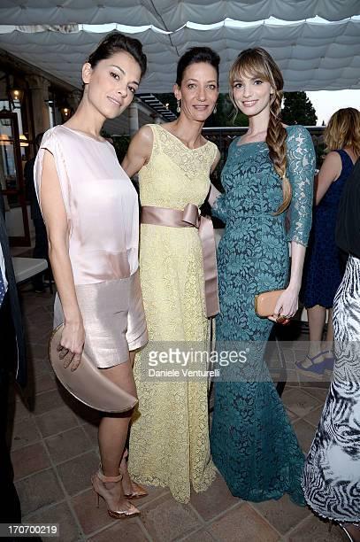Marpessa Hennink Gaia Bermani Amaral and Giorgia Surina attend 'Taormina FilmFest Humanitarian Award' on June 16 2013 in Taormina Italy