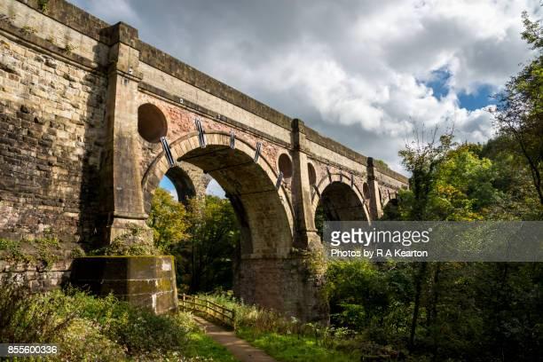 Marple Aquaduct, Peak Forest canal, Stockport, England