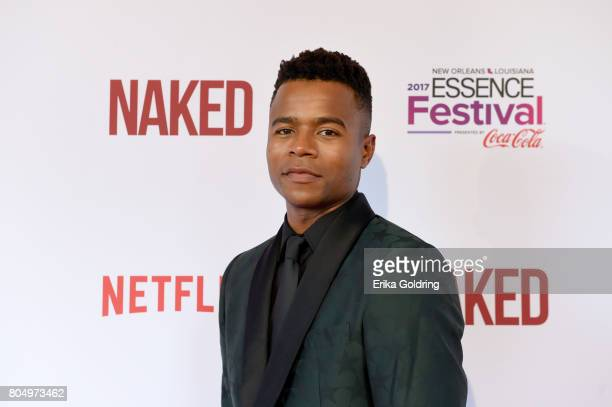 Marque Richardson attends the Premiere of Netflix Original Film 'Naked' At The 2017 Essence Festival at Civic Theatre on June 30 2017 in New Orleans...